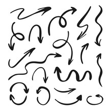 Hand Drawn Arrows Set. Vector ...