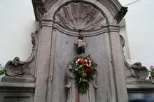 Manneken Pis In Brussels Belgium