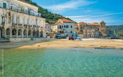 Foto auf AluDibond Khaki The beautiful village of Santa Maria di Castellabate, Cilento, Campania, southern Italy.