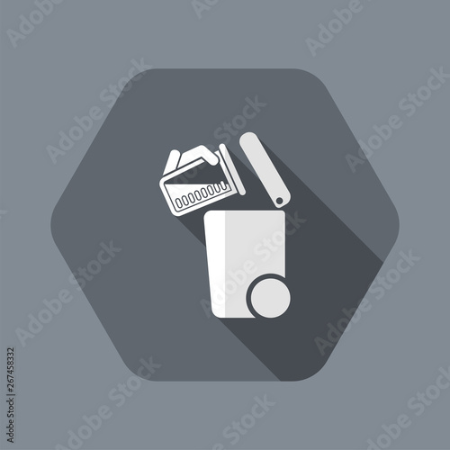 Separate waste collection icon Wallpaper Mural