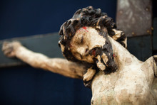 Old Traditional Wooden Crucifix