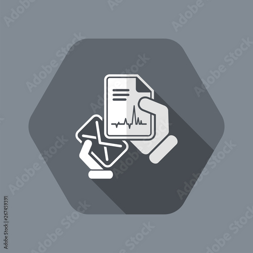 Mail with a medical document Canvas Print