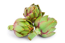 Fresh Artichokes Isolated On W...