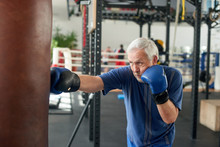 Male Pensioner Trains On A Pun...