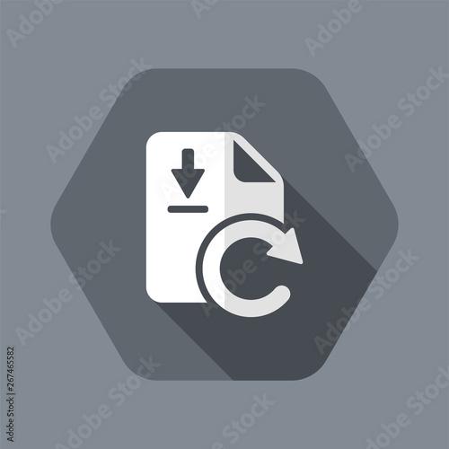Updates file download - Flat minimal icon Wallpaper Mural