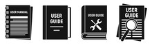 User Guide Instruction Icons Set. Simple Set Of User Guide Instruction Vector Icons For Web Design On White Background
