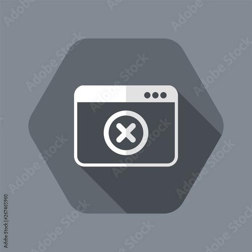 Alert window - Flat minimal icon Canvas Print
