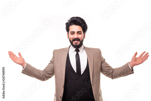 Young arab man with arms raised Fototapeta