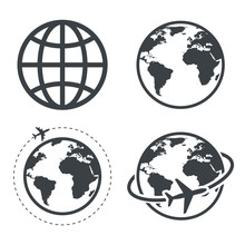 Earth Icon Collection. Globe. ...