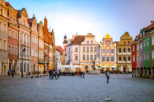 Poznan / Poznan, Poland - Market Square - Old Town, Architecture Close To The Historical Town Hall