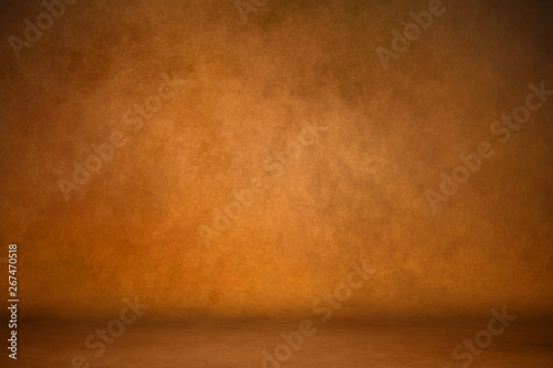 Photo  Background studio portrait backdrops brown canvas background on the wall and on the floor with a soft transition