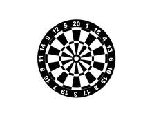 Dartboard For Darts Game Vecto...
