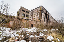 Abandoned Factory. Ruins Of A Very Heavily Polluted Industrial Factory