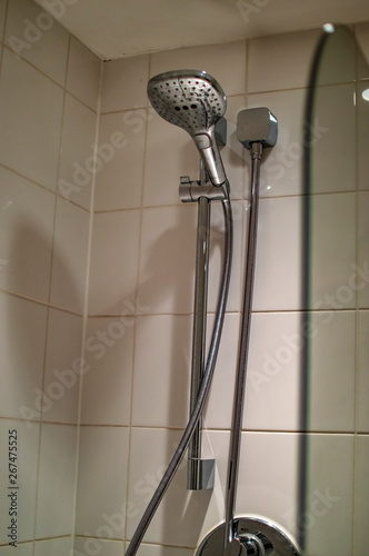 Wall Murals Stairs Bath hand shower installed on the wall