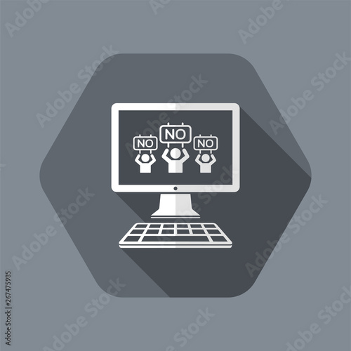 Negation crowd - Vector icon for computer website or application Wallpaper Mural
