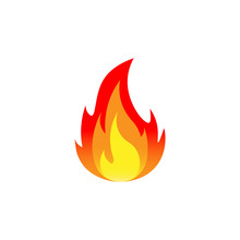 Fire. Vector Illustration. Iso...