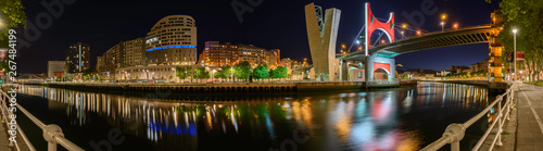 Bilbao River Panorama near with Museum