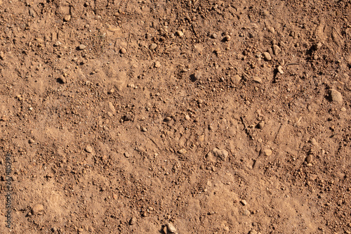 Slika na platnu texture of sand, dirt, birds eye view on surface, background, use as texture