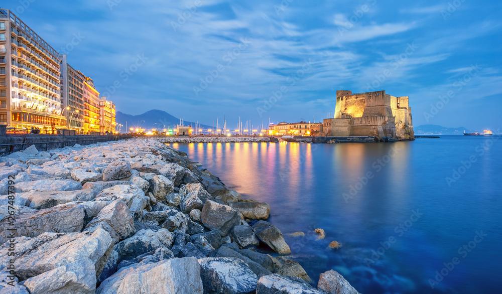 Fototapeta Castel dell Ovo (Egg castle) in Naples, Italy