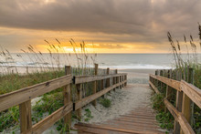 Boardwalk Leading To The Beach...