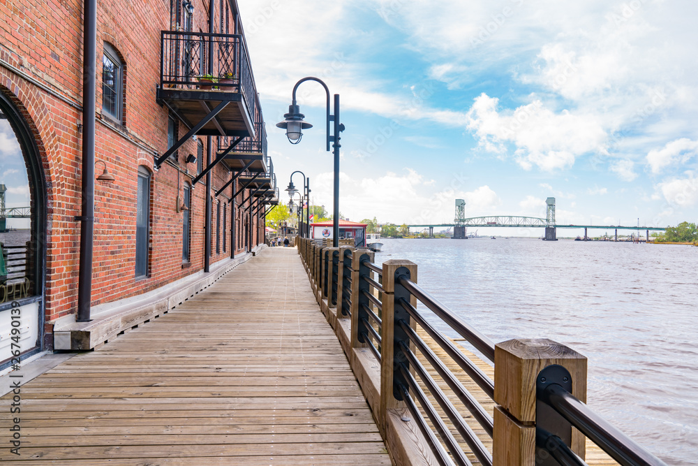Fototapety, obrazy: Wilmington, North Carolina Riverwalk
