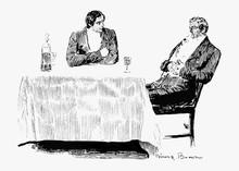 Gentlemen Drinking Together