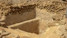 Shot Of A Ritual Bath At Qumra...