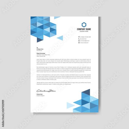 Fototapeta Modern blue letterhead obraz