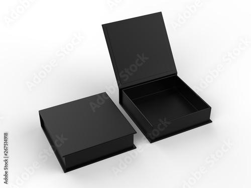 Blank mailer hard cardboard box for branding and mock up Billede på lærred