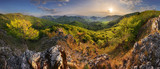 Mountain landscape panorama at spring at sunset - 267519154
