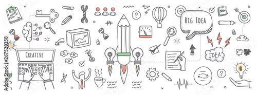 Doodle illustration of big idea