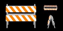 Traffic Barrier. 3d Vector Ill...