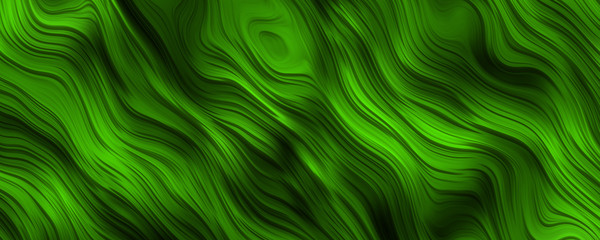 Fototapeta Abstrakcja Green curly lines background