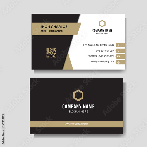 Luxury and elegant business card Fototapeta