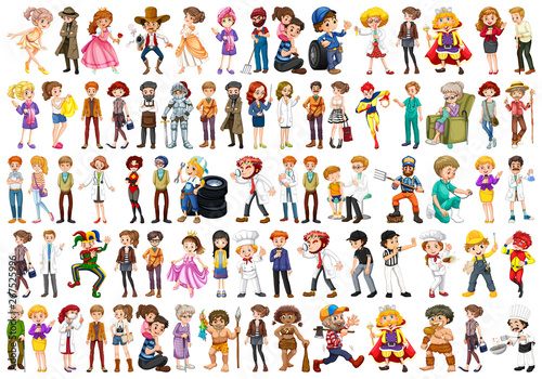 Canvas Prints Kids Set of different job character