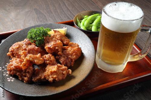 ザンギとビール