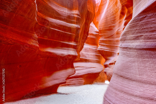 Poster de jardin Rouge mauve Antelope Canyon is a slot canyon in the American Southwest.