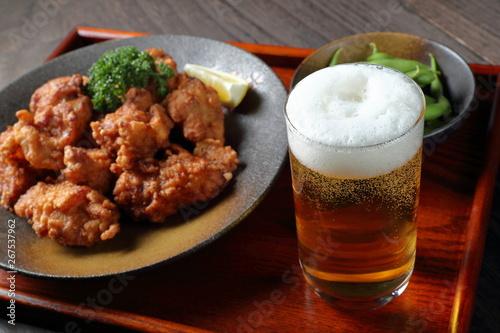 ビールとザンギ