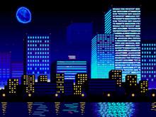 Futuristic Night City. Downtow...