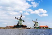 Historic Dutch Windmill In Zaa...