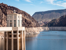 View Of Hoover Dam Las Vegas Nevada Hydroelectric Power Plant