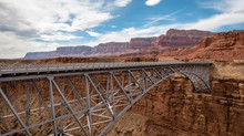 Marble Canyon Bridge And Colorado River Near Page Arizona