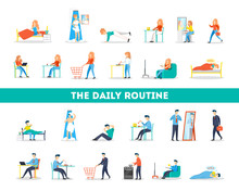 Daily Routine Of A Woman And M...