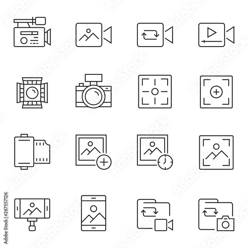 Valokuva  Photography And Videography Icon Set
