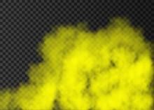 Yellow Smoke  Or Fog Isolated ...