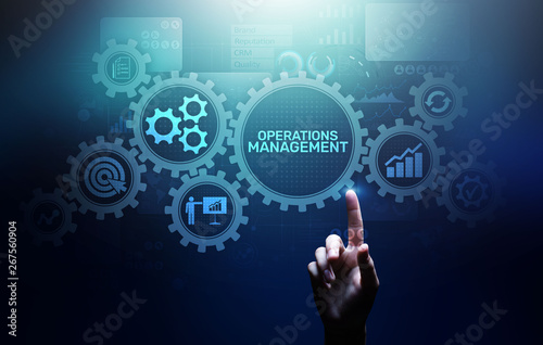 Photo Operation management Business process control optimisation industrial technology concept