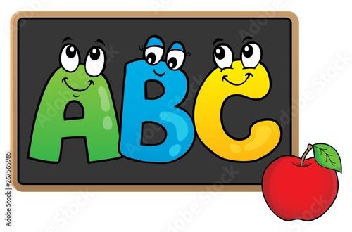 Foto op Canvas Voor kinderen Schoolboard topic image 5