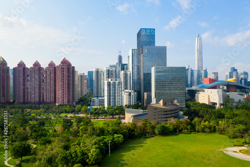 Photo Stands United States Drone aerial photo of the city