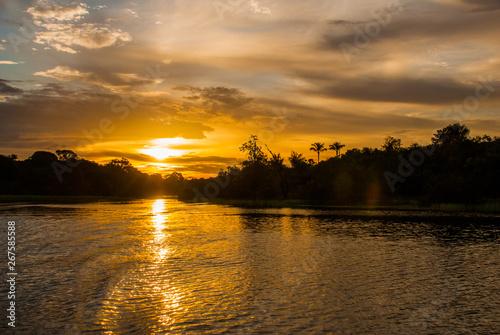 Fotografia, Obraz Beautiful sunset over the Amazon River. Manaus, Amazonas, Brazil