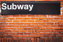 Subway Sign Of Metro Access In...